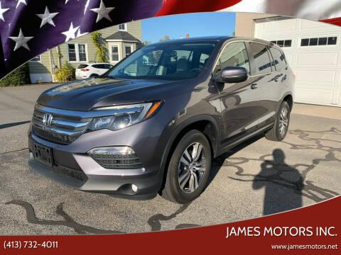 2018 Honda Pilot for sale at James Motors Inc. in East Longmeadow MA