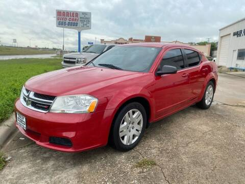 2014 Dodge Avenger for sale at MARLER USED CARS in Gainesville TX