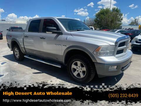 2009 Dodge Ram Pickup 1500 for sale at High Desert Auto Wholesale in Albuquerque NM