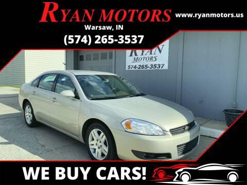 2008 Chevrolet Impala for sale at Ryan Motors LLC in Warsaw IN
