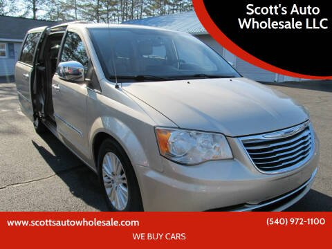2013 Chrysler Town and Country for sale at Scott's Auto Wholesale LLC in Locust Grove VA