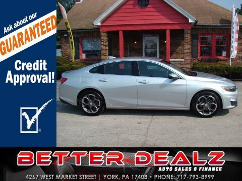 2020 Chevrolet Malibu for sale at Better Dealz Auto Sales & Finance in York PA