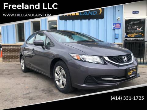 2014 Honda Civic for sale at Freeland LLC in Waukesha WI
