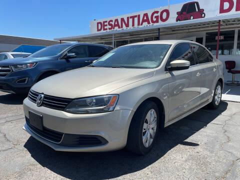 2013 Volkswagen Jetta for sale at DESANTIAGO AUTO SALES in Yuma AZ