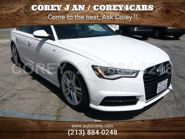2016 Audi A6 for sale at WWW.COREY4CARS.COM / COREY J AN in Los Angeles CA