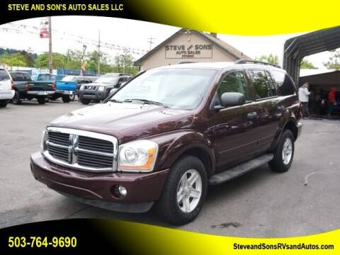 2005 Dodge Durango for sale at Steve & Sons Auto Sales in Happy Valley OR