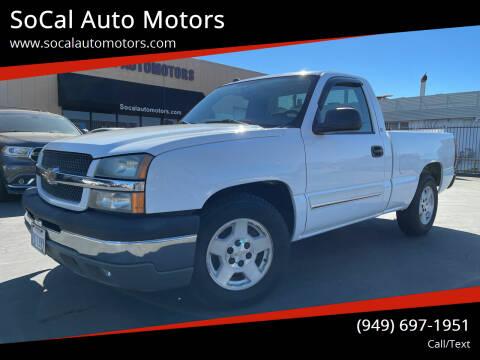 2005 Chevrolet Silverado 1500 for sale at SoCal Auto Motors in Costa Mesa CA
