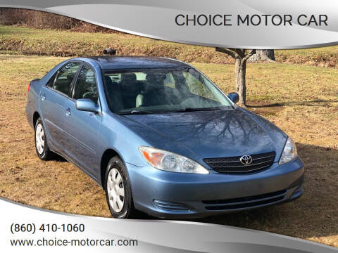 2003 Toyota Camry for sale at Choice Motor Car in Plainville CT