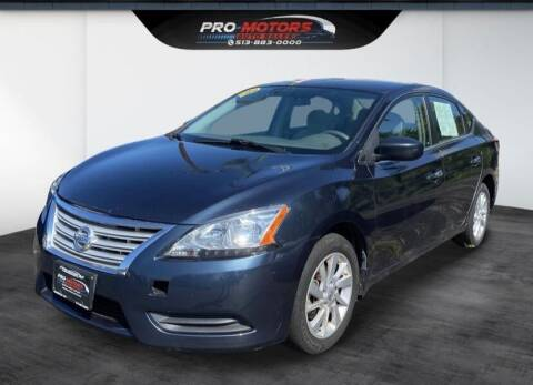 2013 Nissan Sentra for sale at Pro Motors in Fairfield OH