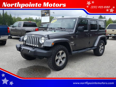 2018 Jeep Wrangler JK Unlimited for sale at Northpointe Motors in Kalkaska MI