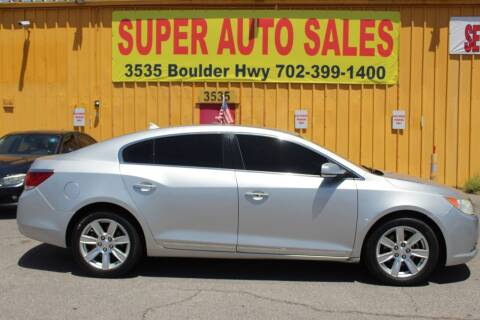 2013 Buick LaCrosse for sale at Super Auto Sales in Las Vegas NV