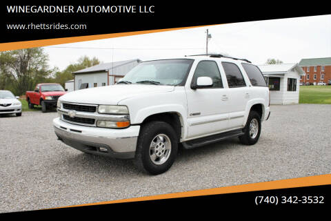 2002 Chevrolet Tahoe for sale at WINEGARDNER AUTOMOTIVE LLC in New Lexington OH