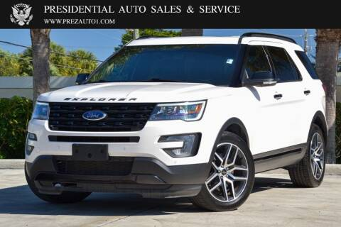 2017 Ford Explorer for sale at Presidential Auto  Sales & Service in Delray Beach FL
