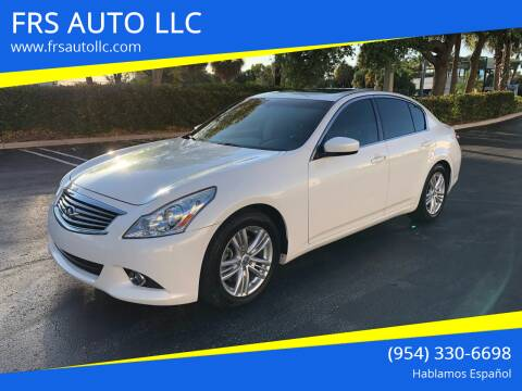 2013 Infiniti G37 Sedan for sale at FRS AUTO LLC in West Palm Beach FL
