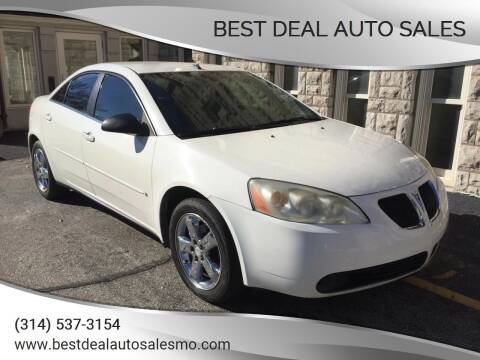 2008 Pontiac G6 for sale at Best Deal Auto Sales in Saint Charles MO