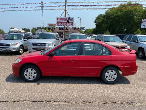 2005 Honda Civic for sale at Affordable 4 All Auto Sales in Elk River MN