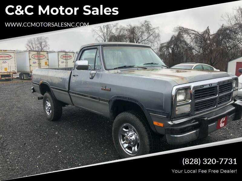 1993 Dodge RAM 250 for sale at C&C Motor Sales LLC in Hudson NC