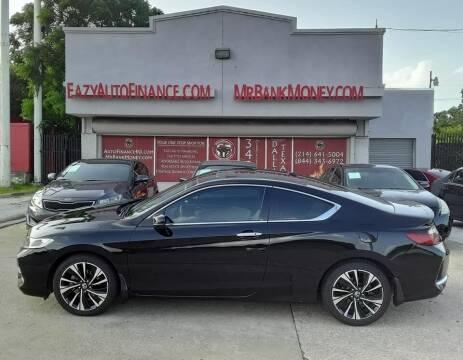 2016 Honda Accord for sale at Eazy Auto Finance in Dallas TX