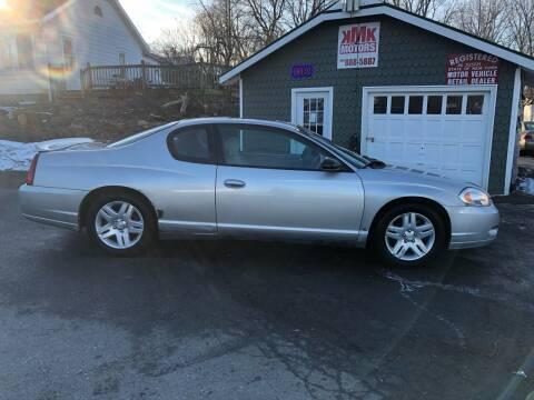 2006 Chevrolet Monte Carlo for sale at KMK Motors in Latham NY
