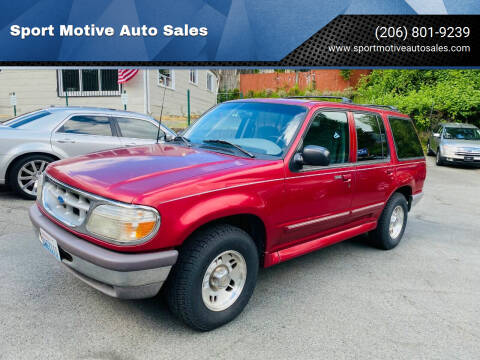 1996 Ford Explorer for sale at Sport Motive Auto Sales in Seattle WA
