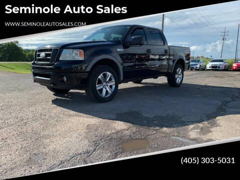 2008 Ford F-150 for sale at Seminole Auto Sales in Seminole OK