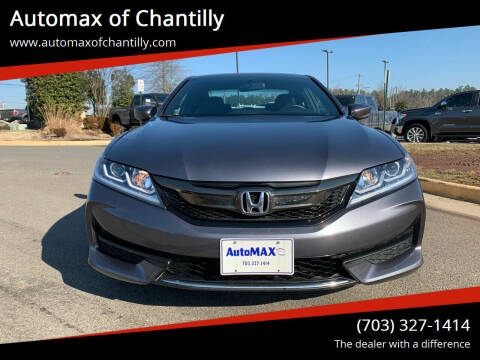 2016 Honda Accord for sale at Automax of Chantilly in Chantilly VA