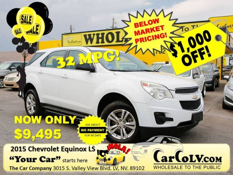2015 Chevrolet Equinox for sale at The Car Company in Las Vegas NV