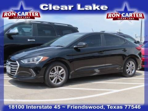 2018 Hyundai Elantra for sale at Ron Carter  Clear Lake Used Cars in Houston TX