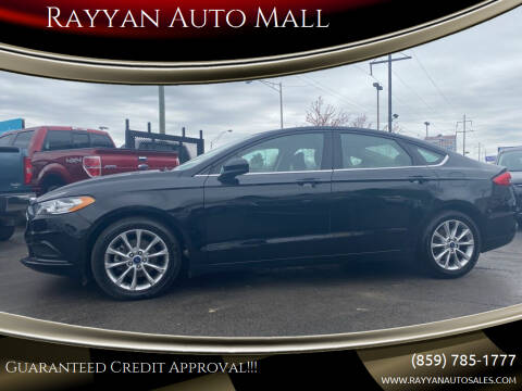 2017 Ford Fusion for sale at Rayyan Auto Mall in Lexington KY