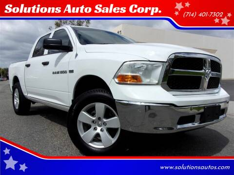 2012 RAM Ram Pickup 1500 for sale at Solutions Auto Sales Corp. in Orange CA