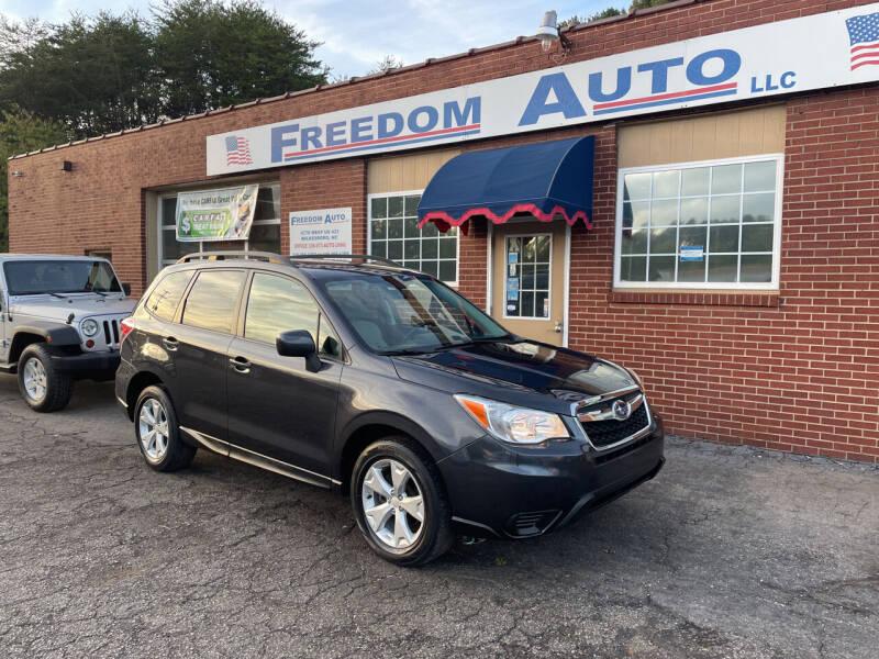 2015 Subaru Forester for sale at FREEDOM AUTO LLC in Wilkesboro NC