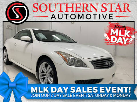 2009 Infiniti G37 Convertible for sale at Southern Star Automotive, Inc. in Duluth GA