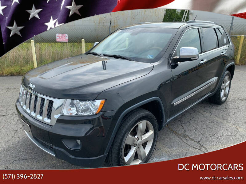 2012 Jeep Grand Cherokee for sale at DC Motorcars in Springfield VA