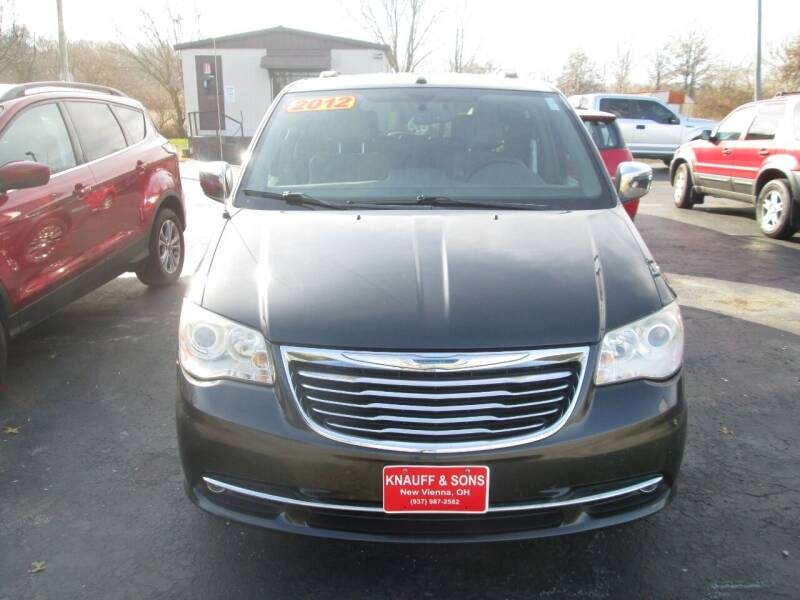 2011 Chrysler Town and Country for sale at Knauff & Sons Motor Sales in New Vienna OH
