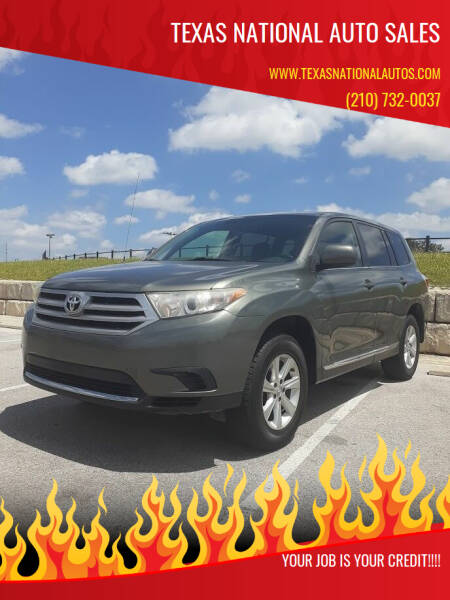 2012 Toyota Highlander for sale at Texas National Auto Sales in San Antonio TX