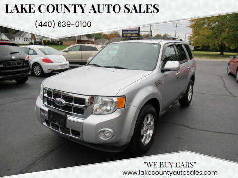 2011 Ford Escape for sale at Lake County Auto Sales in Painesville OH
