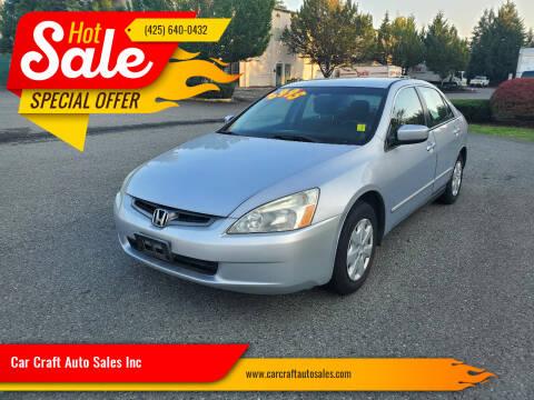 2004 Honda Accord for sale at Car Craft Auto Sales Inc in Lynnwood WA