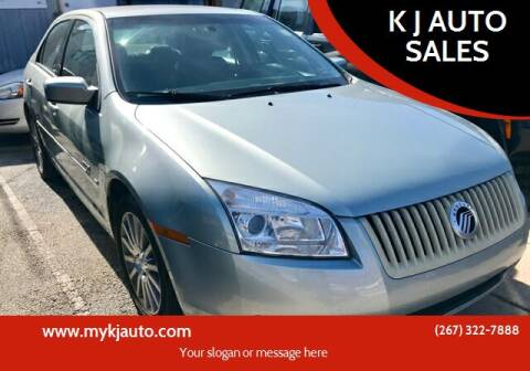 2007 Mercury Milan for sale at K J AUTO SALES in Philadelphia PA