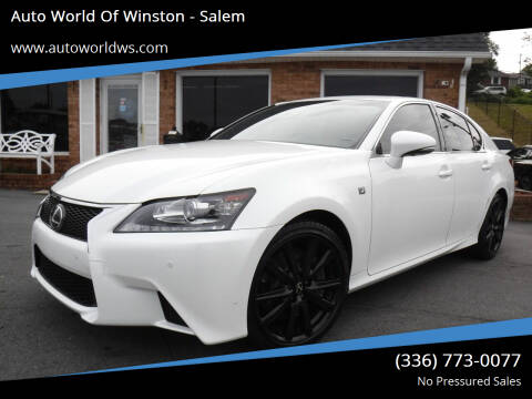 2013 Lexus GS 350 for sale at Auto World Of Winston - Salem in Winston Salem NC