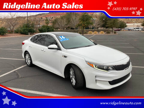 2016 Kia Optima for sale at Ridgeline Auto Sales in Saint George UT