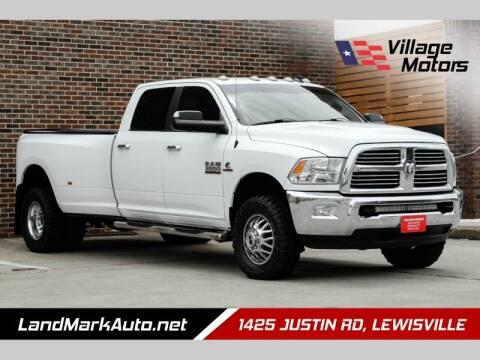 2016 RAM Ram Pickup 3500 for sale at Village Motors in Lewisville TX