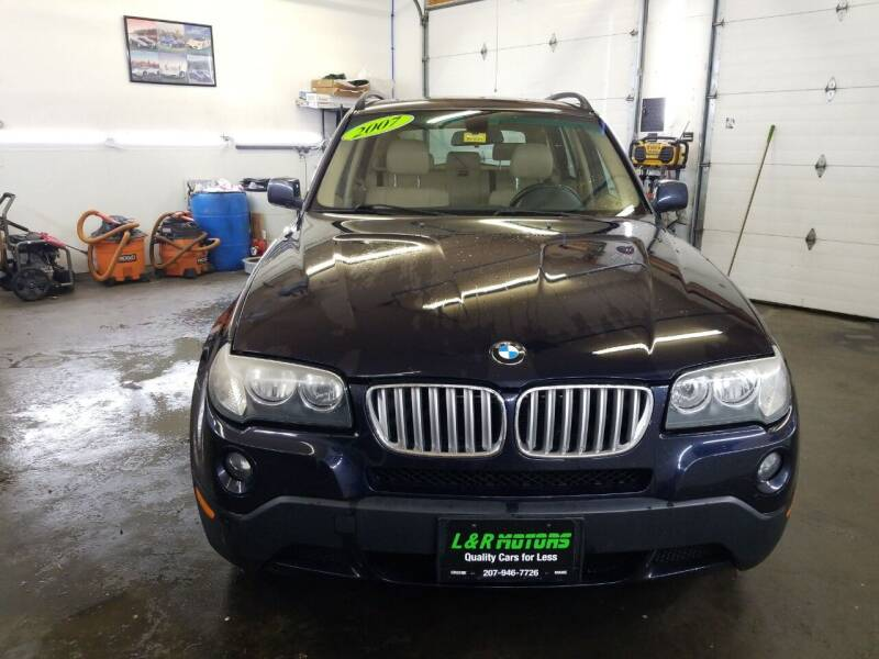 2007 BMW X3 for sale at L & R Motors in Greene ME