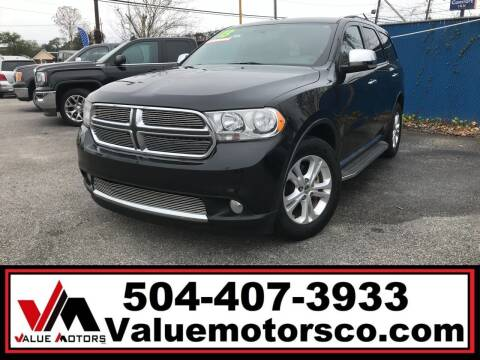 2013 Dodge Durango for sale at Value Motors Company in Marrero LA