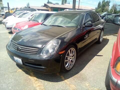 2003 Infiniti G35 for sale at Payless Car & Truck Sales in Mount Vernon WA