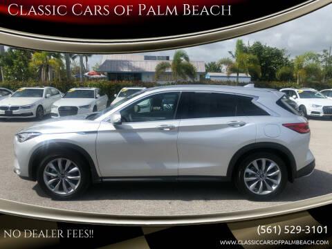 2021 Infiniti QX50 for sale at Classic Cars of Palm Beach in Jupiter FL