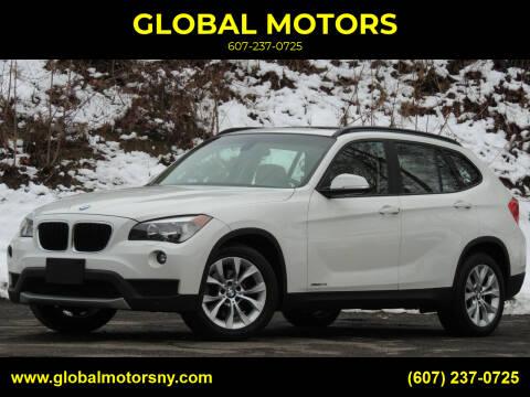 2014 BMW X1 for sale at GLOBAL MOTORS in Binghamton NY