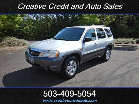 2003 Mazda Tribute for sale at Creative Credit & Auto Sales in Salem OR