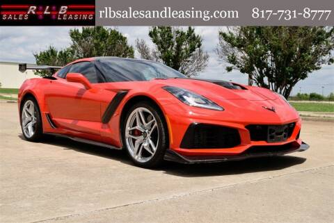 2019 Chevrolet Corvette for sale at RLB Sales and Leasing in Fort Worth TX