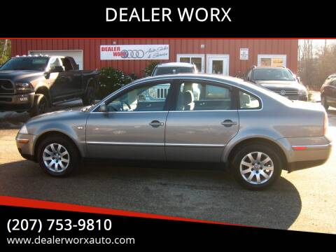 2003 Volkswagen Passat for sale at DEALER WORX in Auburn ME