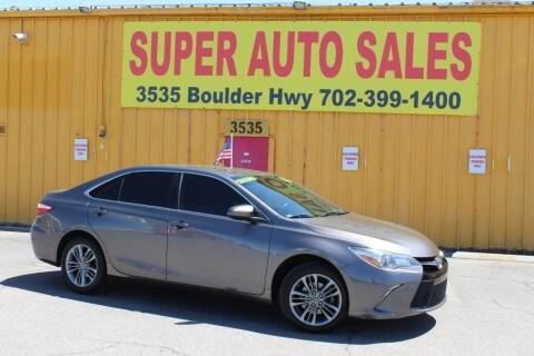 2016 Toyota Camry for sale at Super Auto Sales in Las Vegas NV